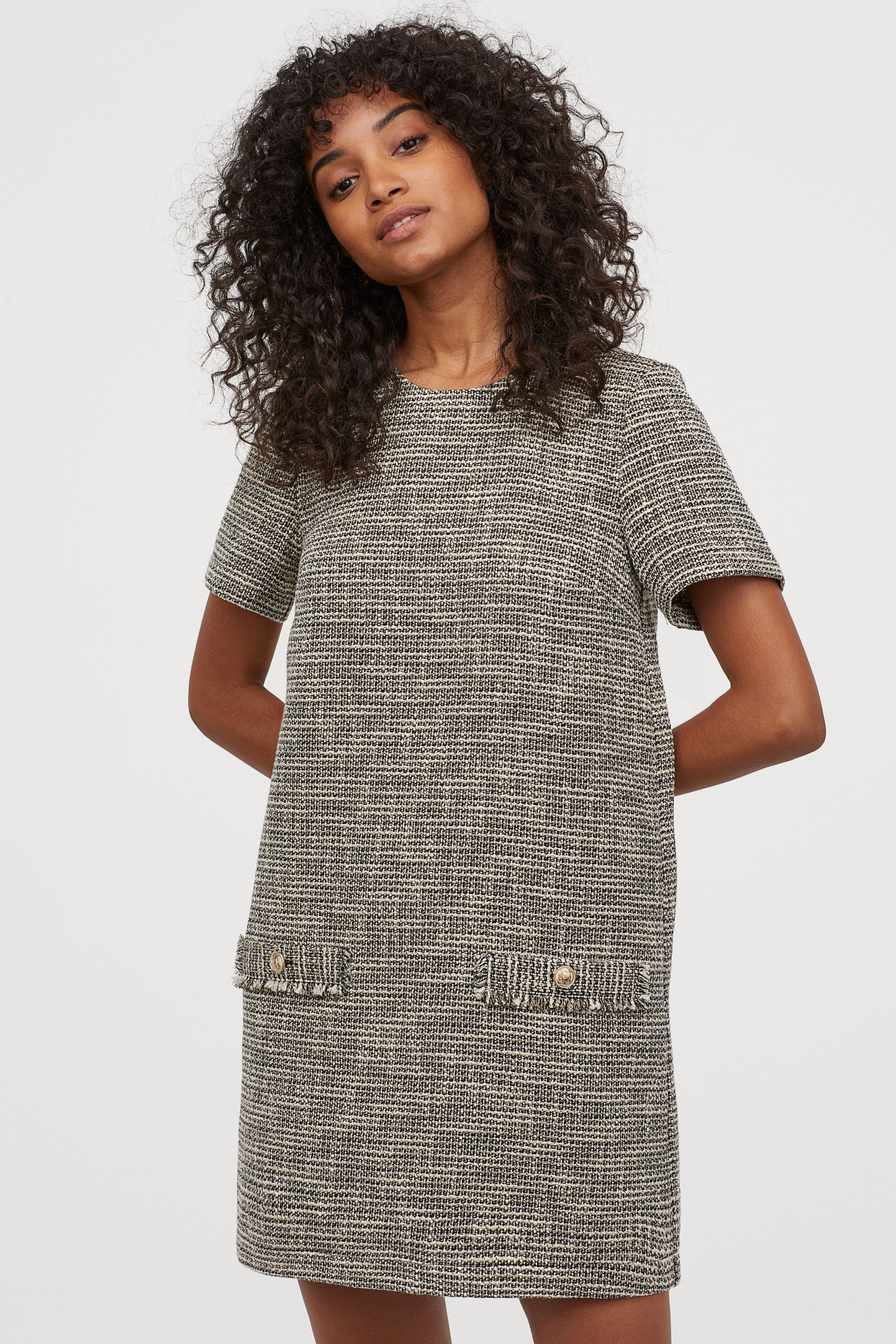 Textured Weave Short Dress
