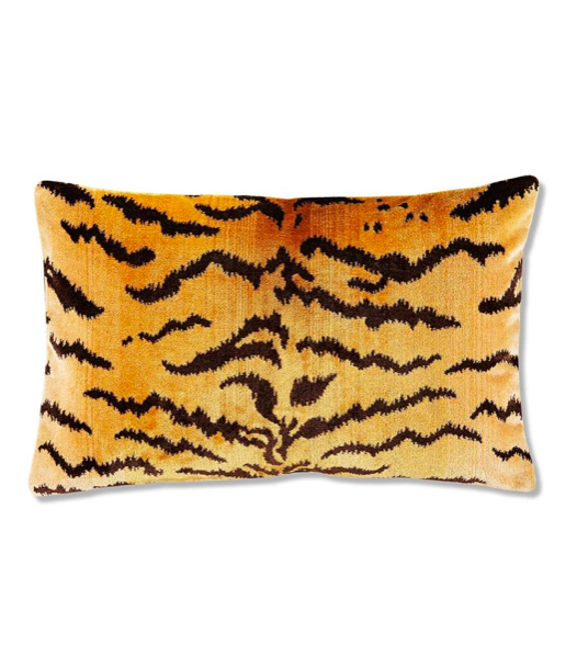 Scalamandre Tiger Stripe Velvet Lumbar Pillow Le Tigre