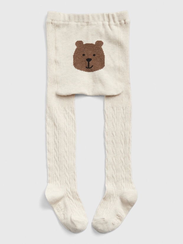 Toddler Bear Cable Knit Tights