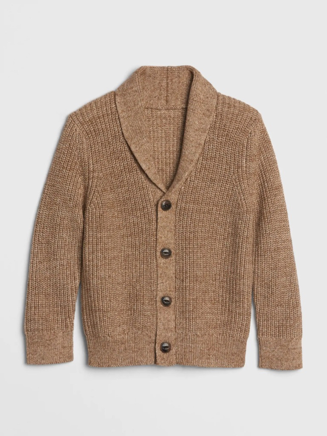 Toddler Shawl-Collar Cardigan Sweater