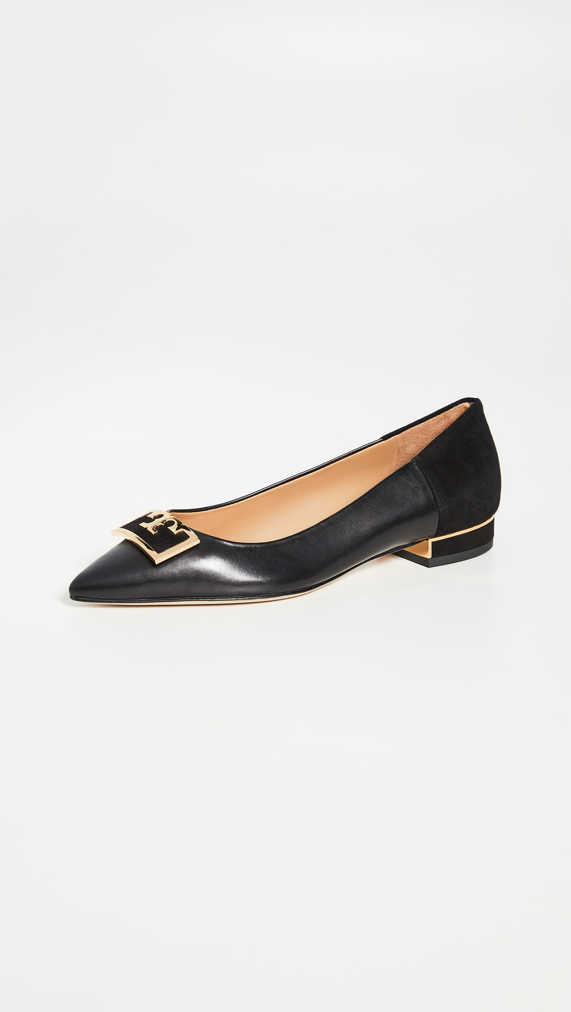 Tory Burch Black Pointed Toe Flats