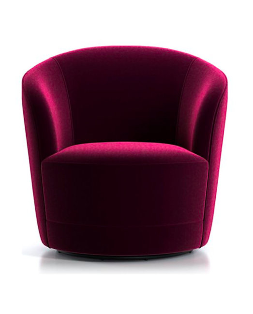 Velvet tub swivel chairs