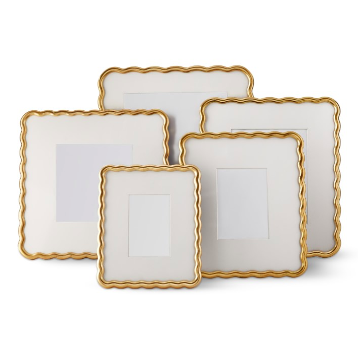 Wavy Gold Gallery Picture Frames