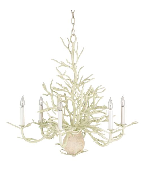 White Coral Branch Chandelier