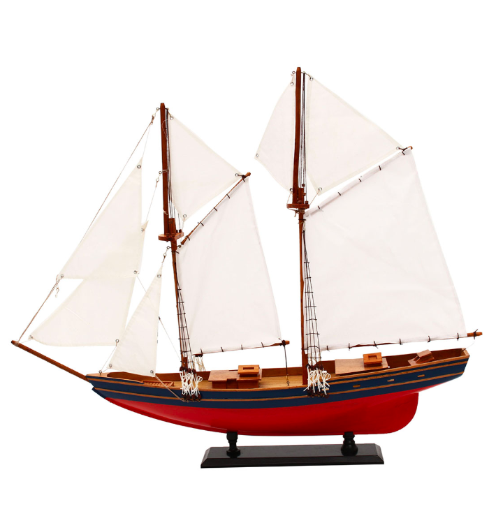 Wooden Sailboat Ship Model