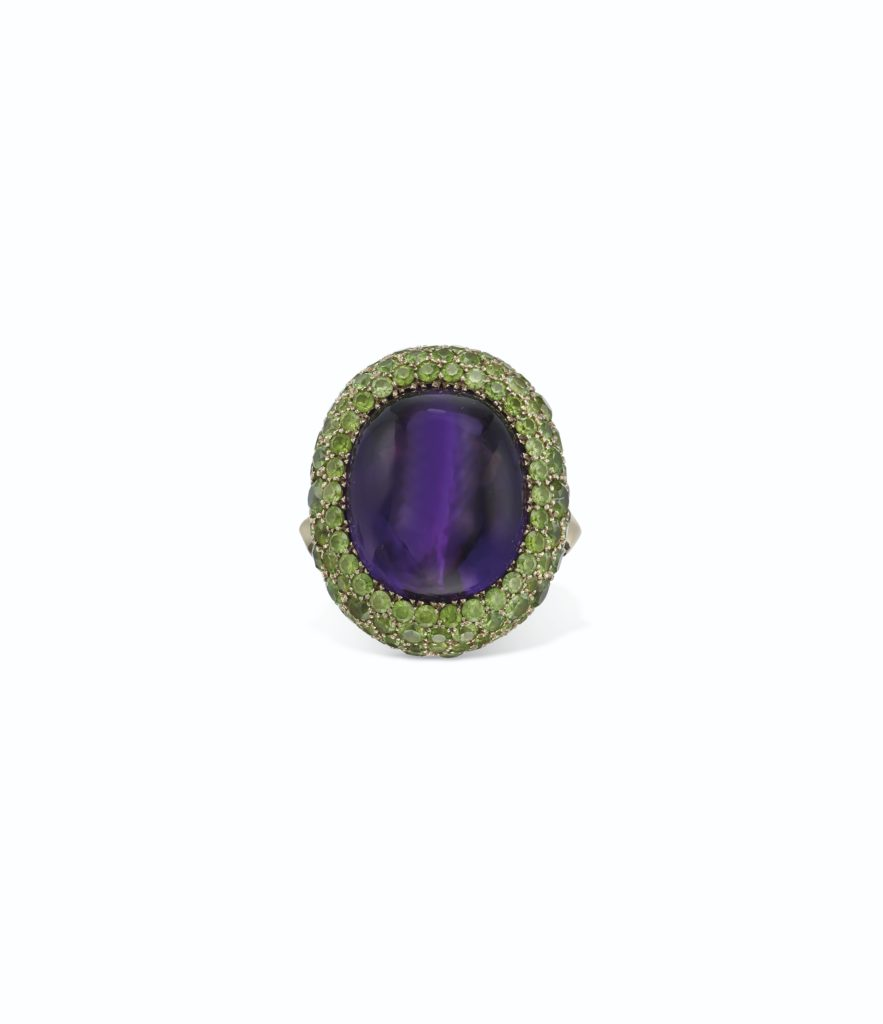 Amethyst and Garnet Cocktail Ring by Taffin, Lee Radziwill Auction at Christie's