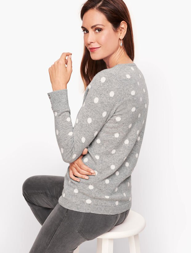 Gray and White Dot Sweater