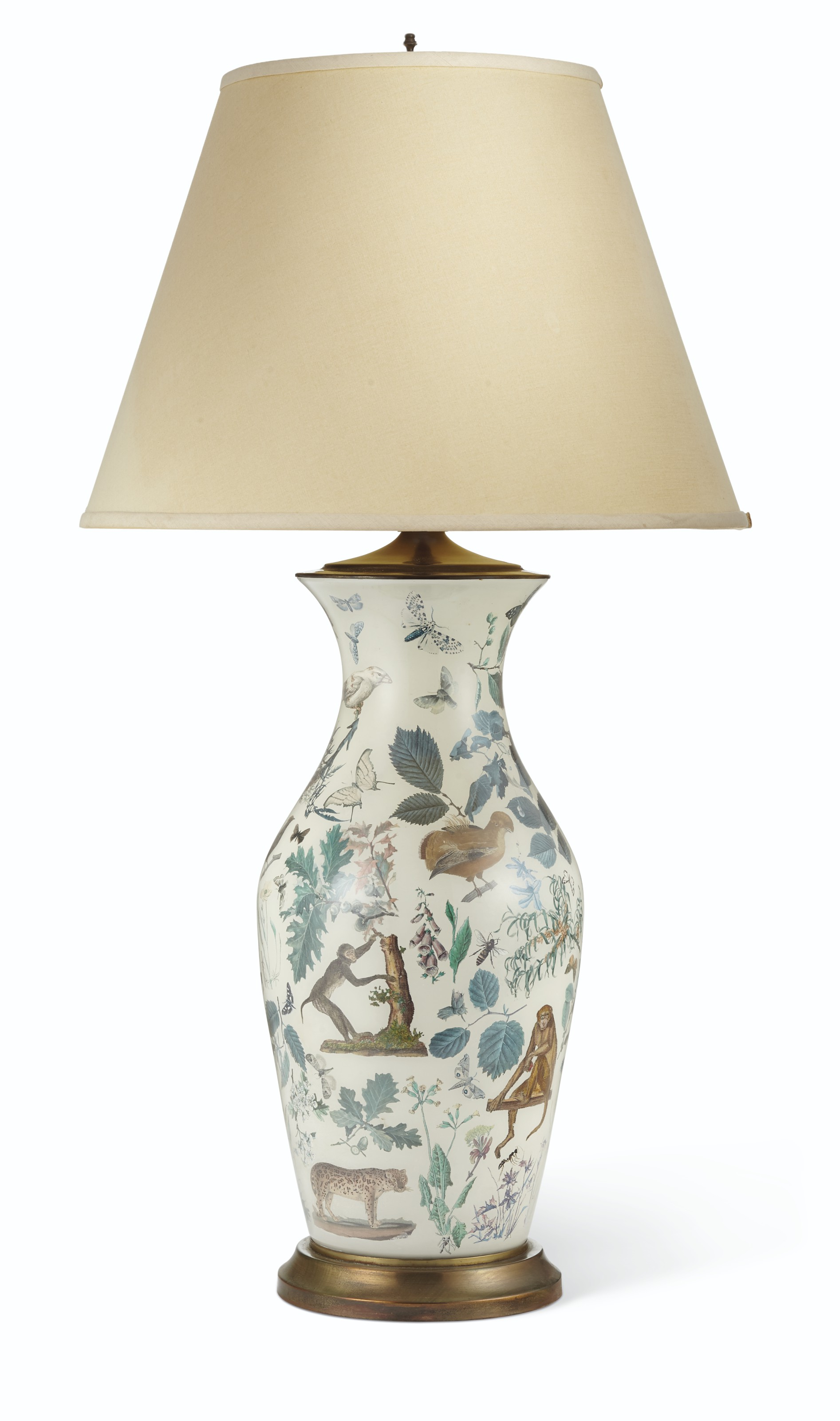 Decalcomania Baluster Vase Mounted As a Table Lamp from the Lee Radziwill Auction at Christie's