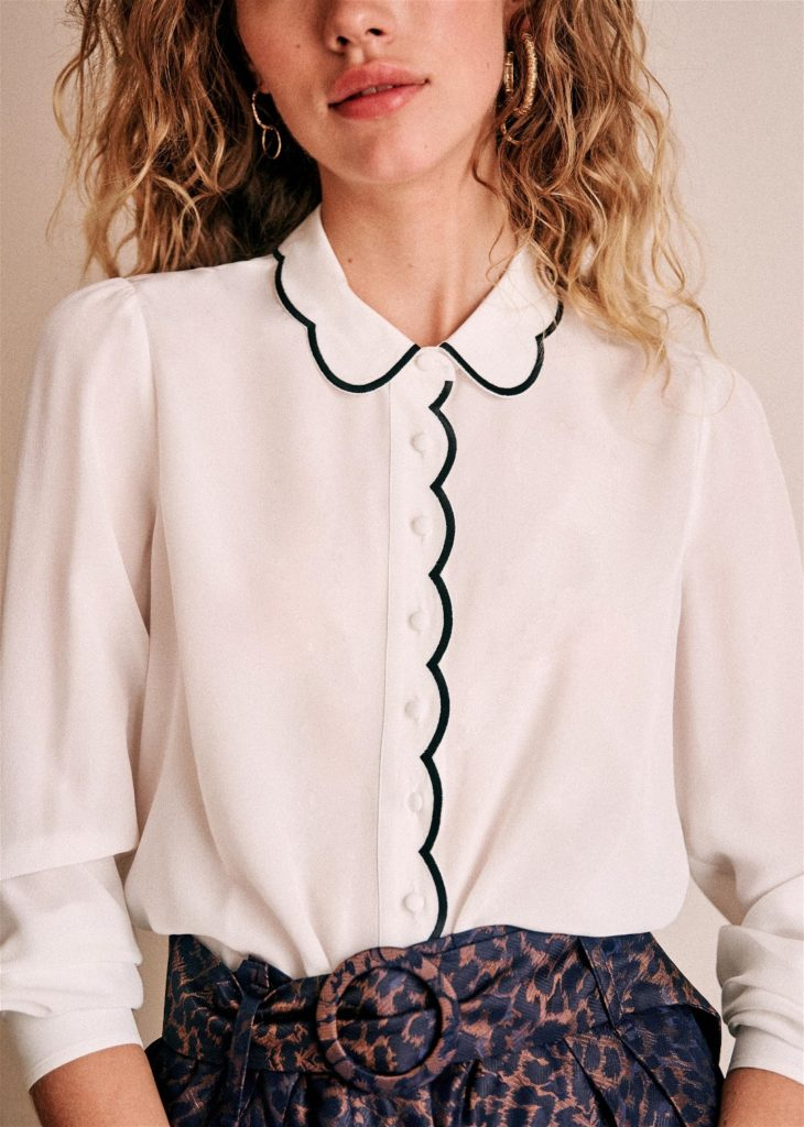 Fanny Shirt Scalloped Collar Sezane Paris