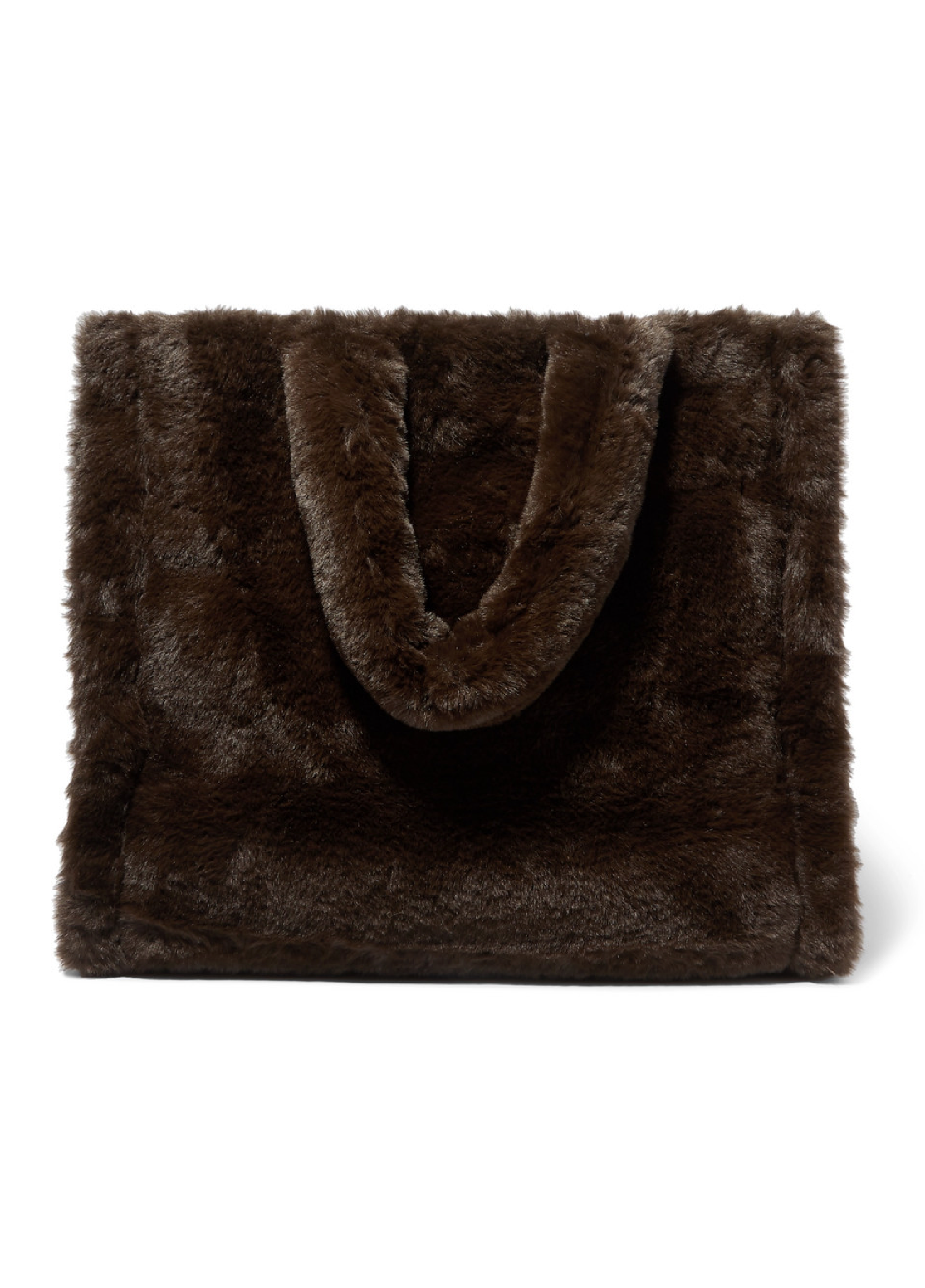 Faux Fur Brown Tote