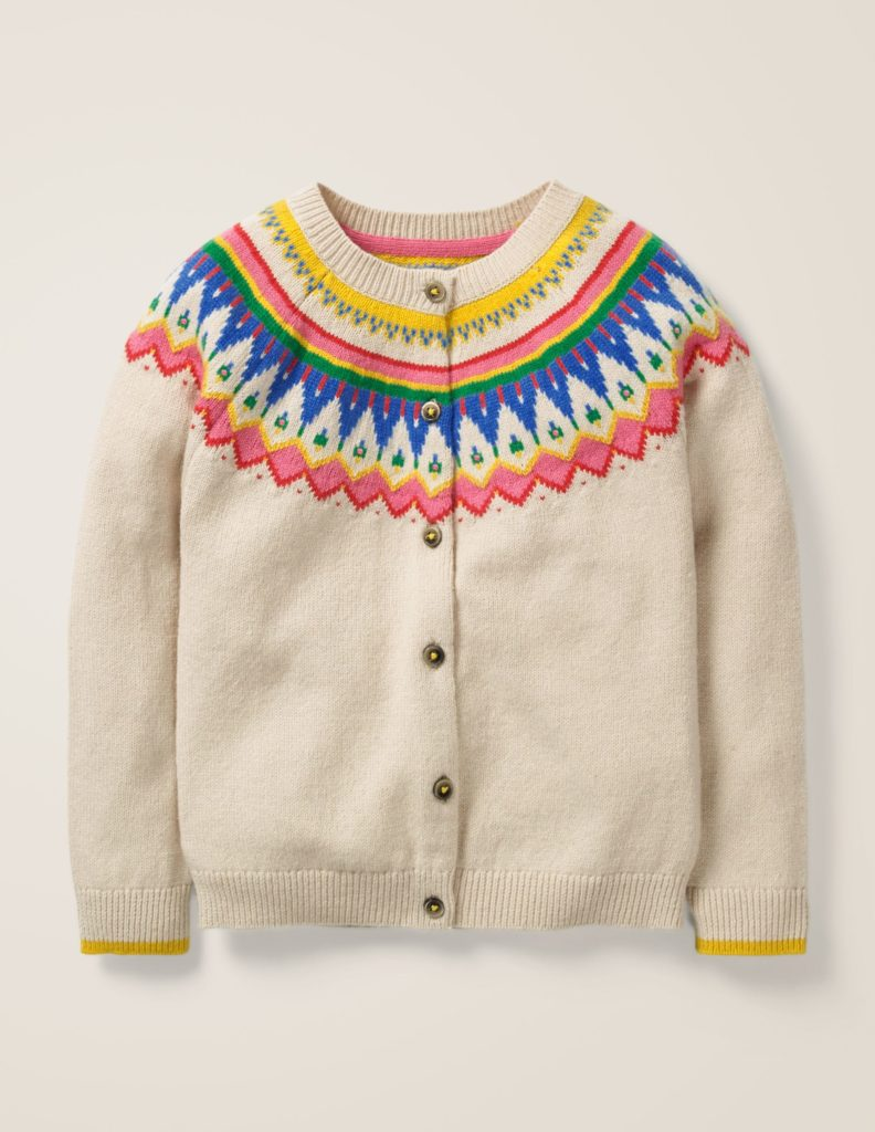 Girls' Fair Isle Cardigan Sweater