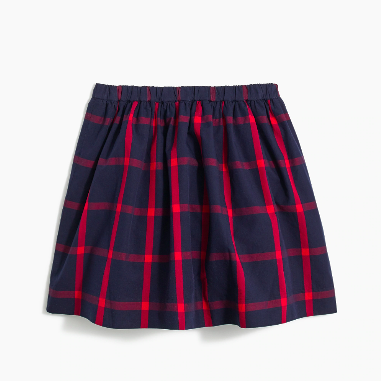 Girls' Plaid Skirt