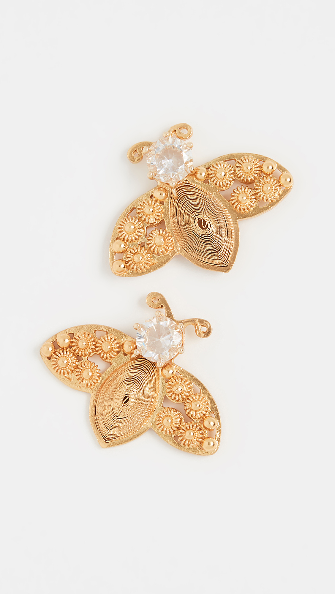 Gold Bee Shaped Earrings