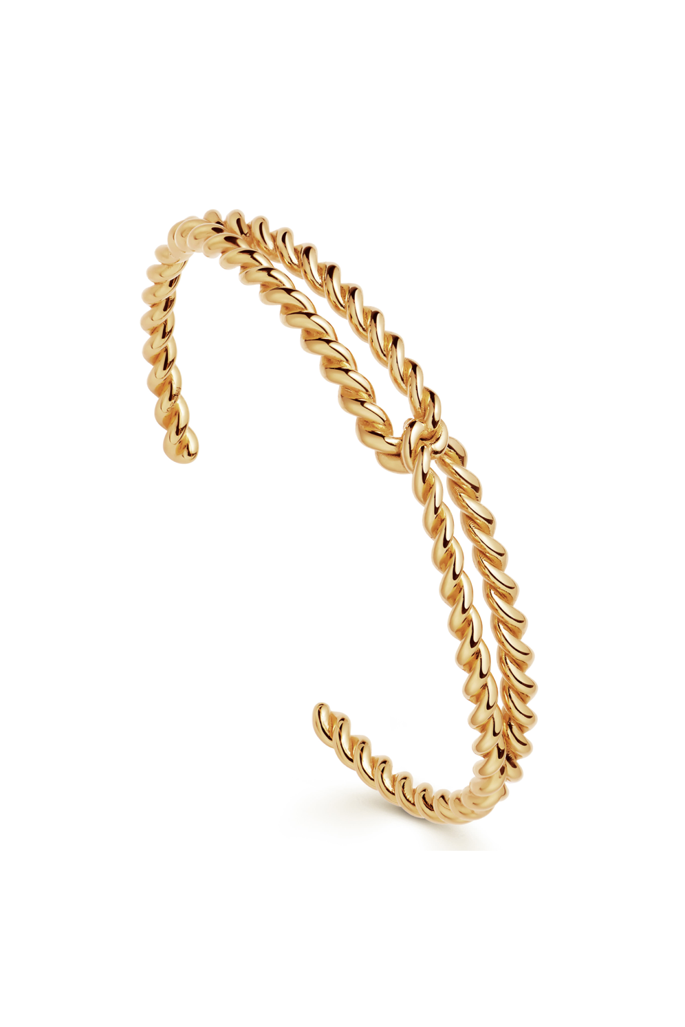 Gold Twine Twisted Cuff
