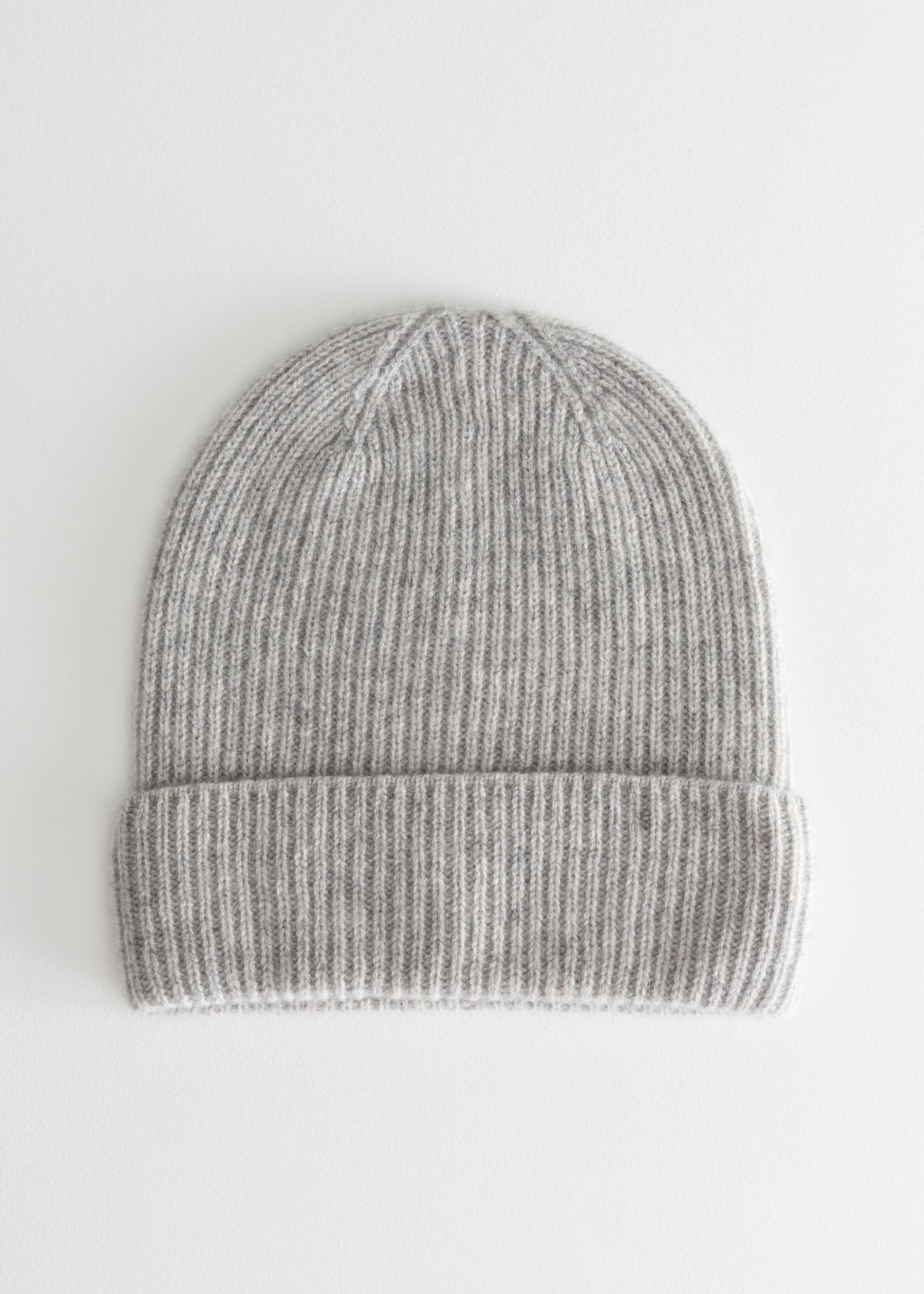 Gray Cashmere Knit Beanie