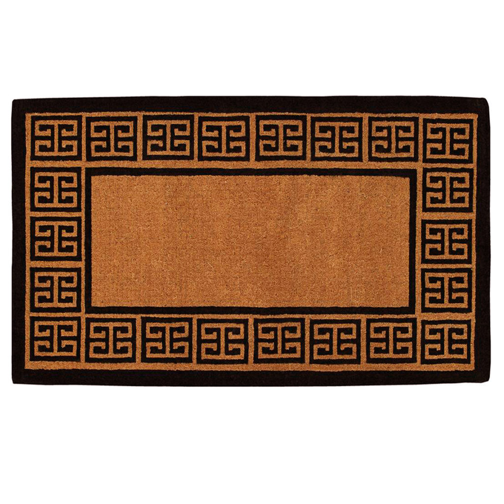 Greek Key Doormat Coir