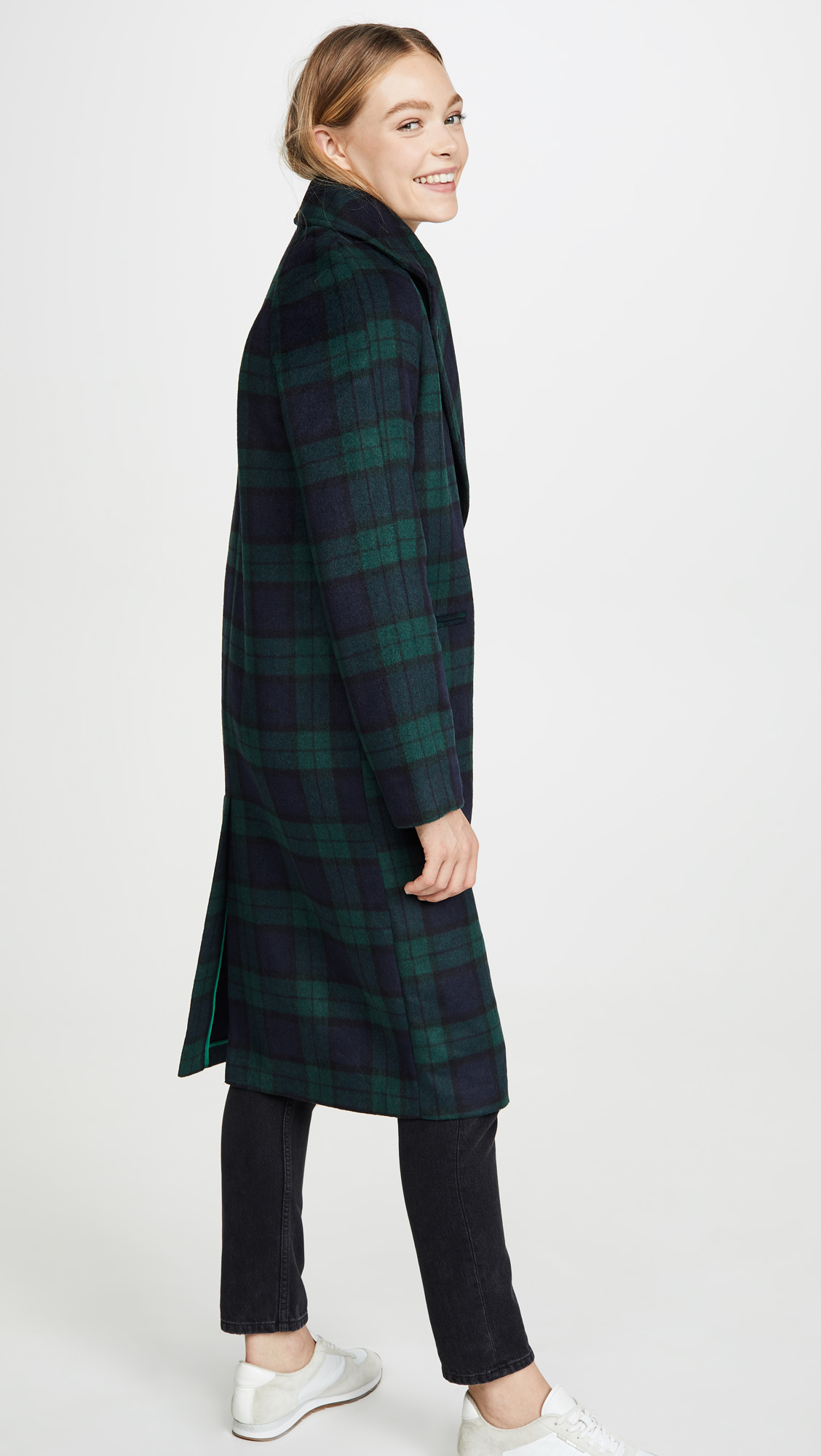Green and Navy Plaid Jacket