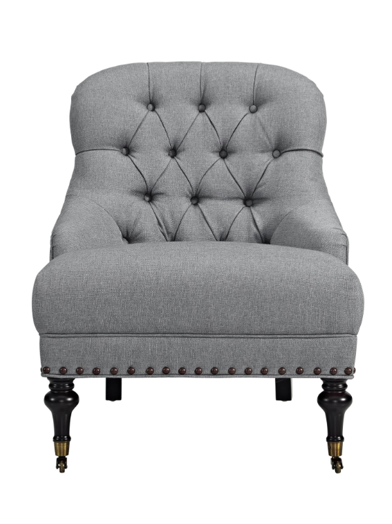 Grey Tufted Accent Chair