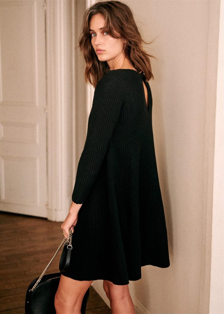 Janice Ribbed Dress Sezane Paris