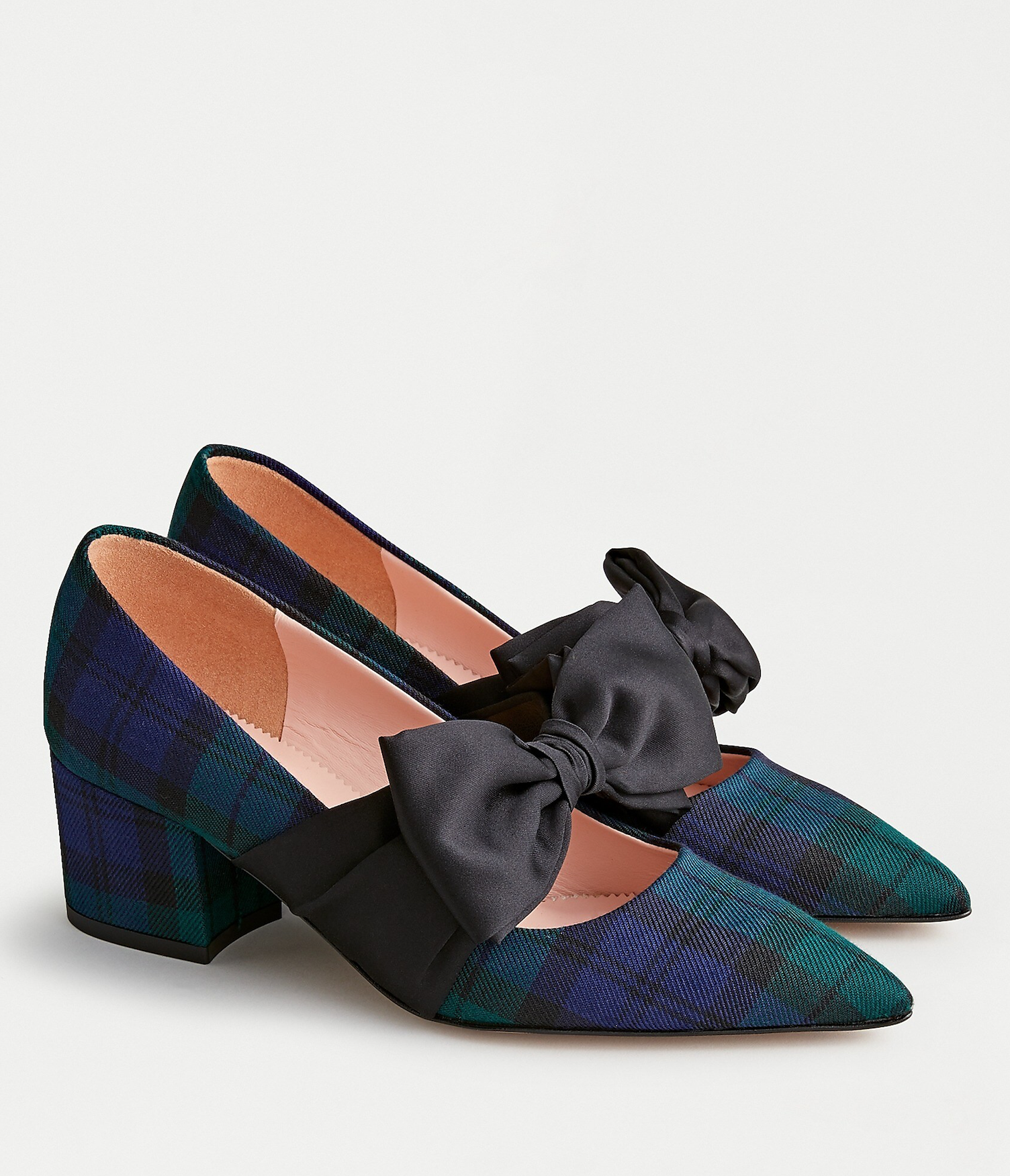 Black Watch Tartan Plaid Pumps