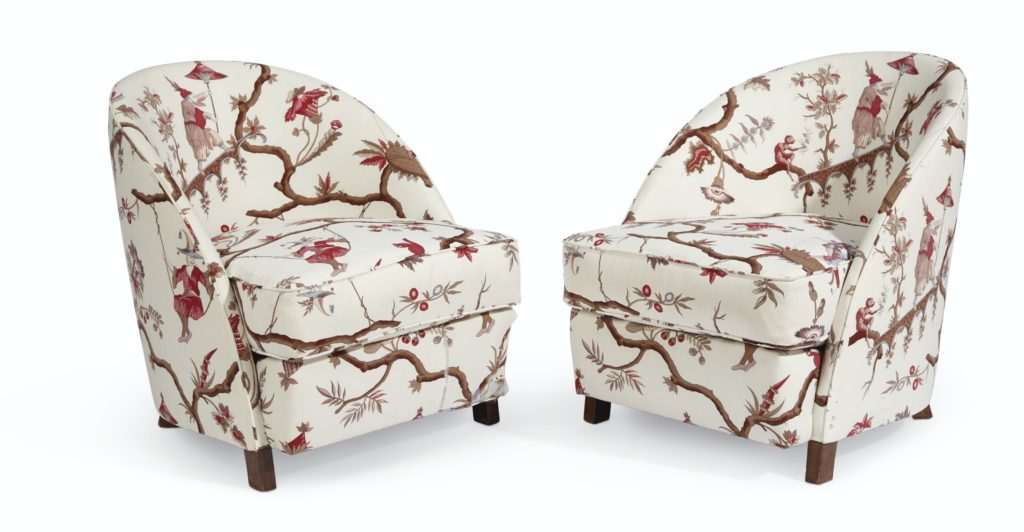 Lee Radziwill Auction Christie's French Upholstered Club Chairs