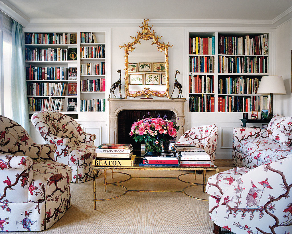 Lee Radziwill's Paris Apartment Le Manach upholstered armchairs