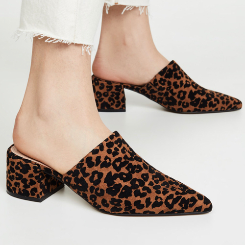 The Daily Hunt: Leopard Pointed Toe Mules and More!