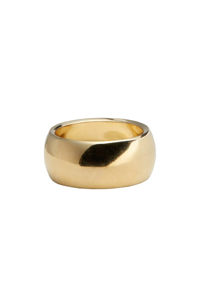Brass Cigar Band Ring