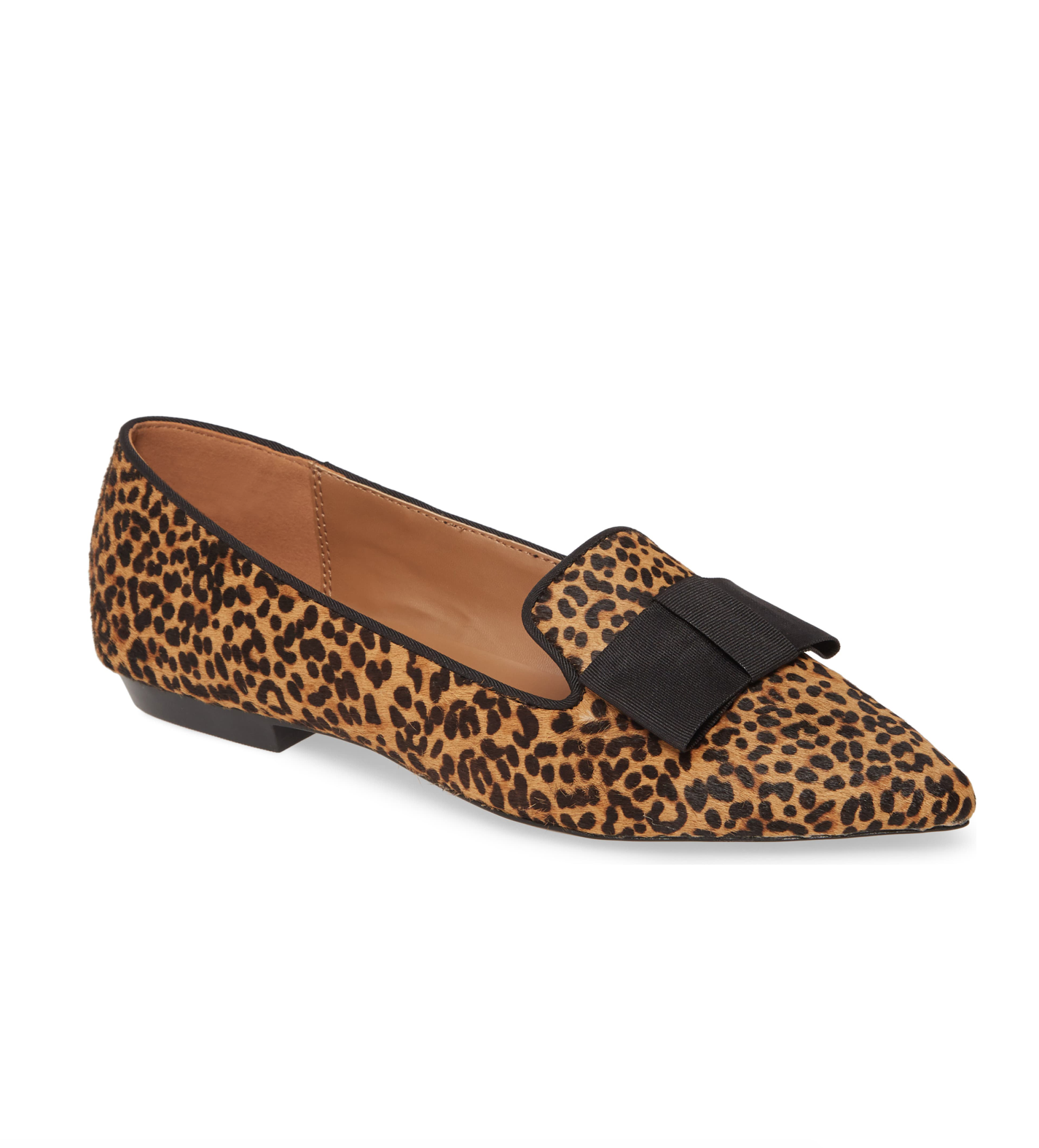 Leopard Print Pointed Toe Loafers