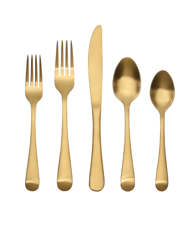 Gold Finish Flatware