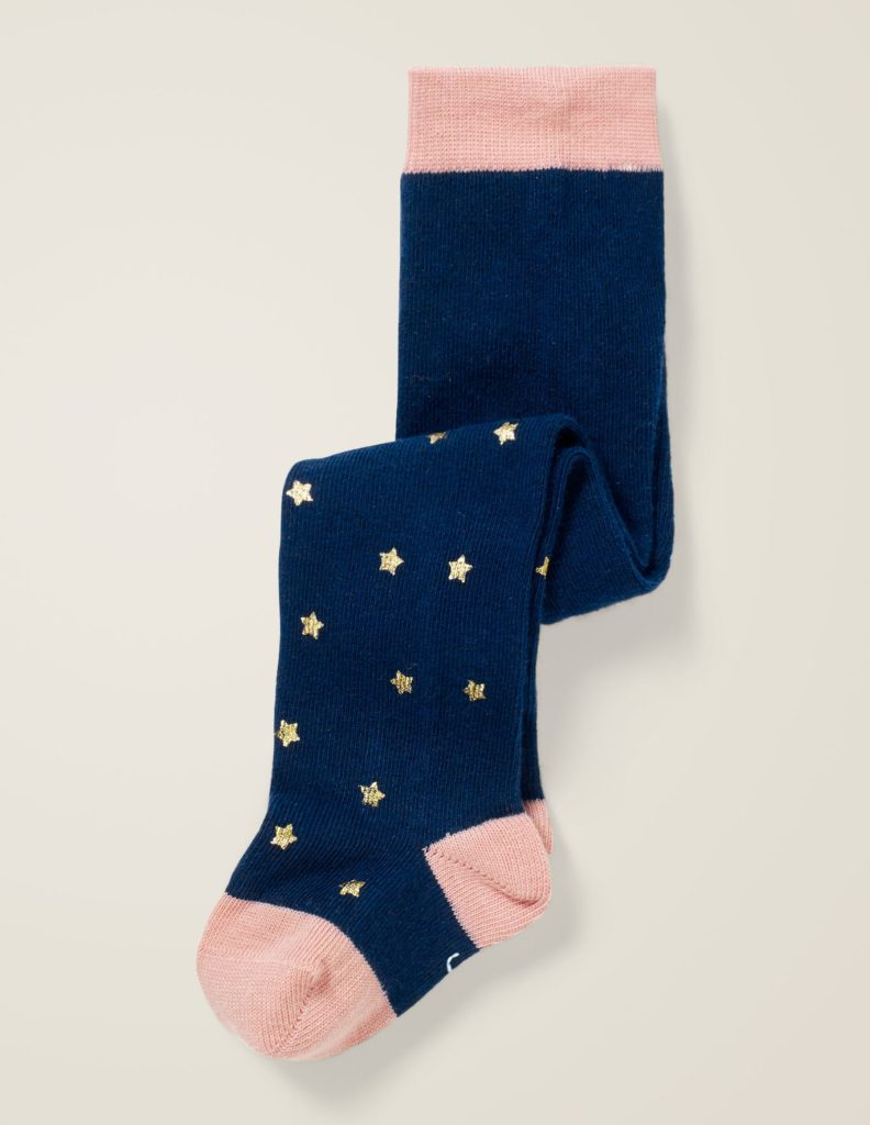 Baby Tights Metallic Stars Blue