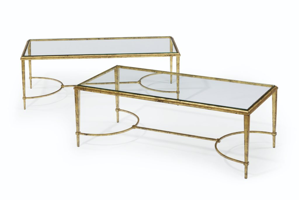 Pair of French Gilt Metal Low Tables Lee Radziwill Auction Christie's