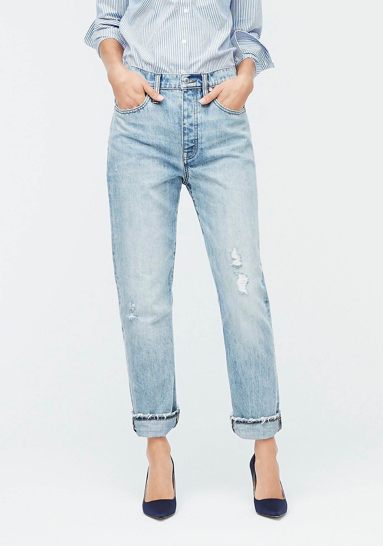 Light Wash Slouchy Boyfriend Jeans
