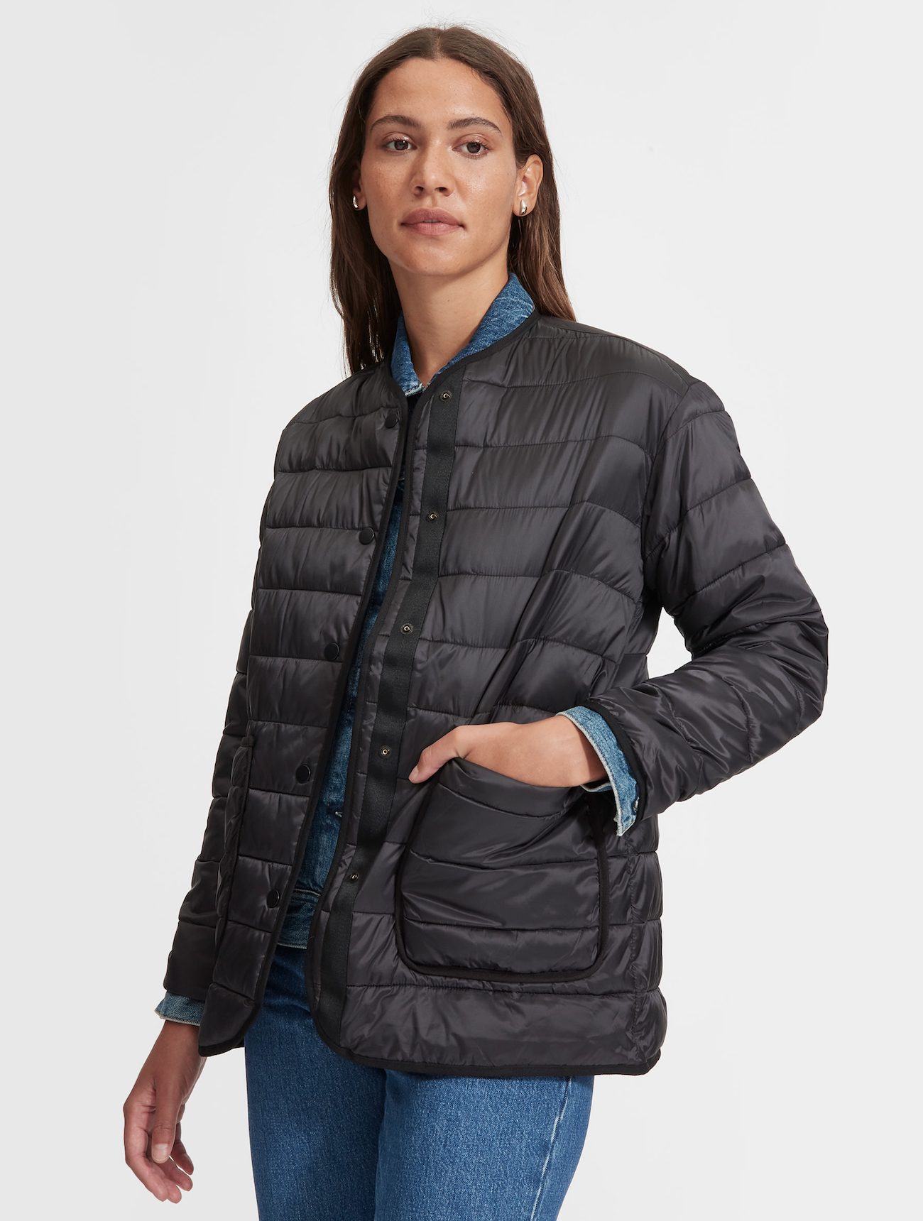Snap Front Lightweight Jacket