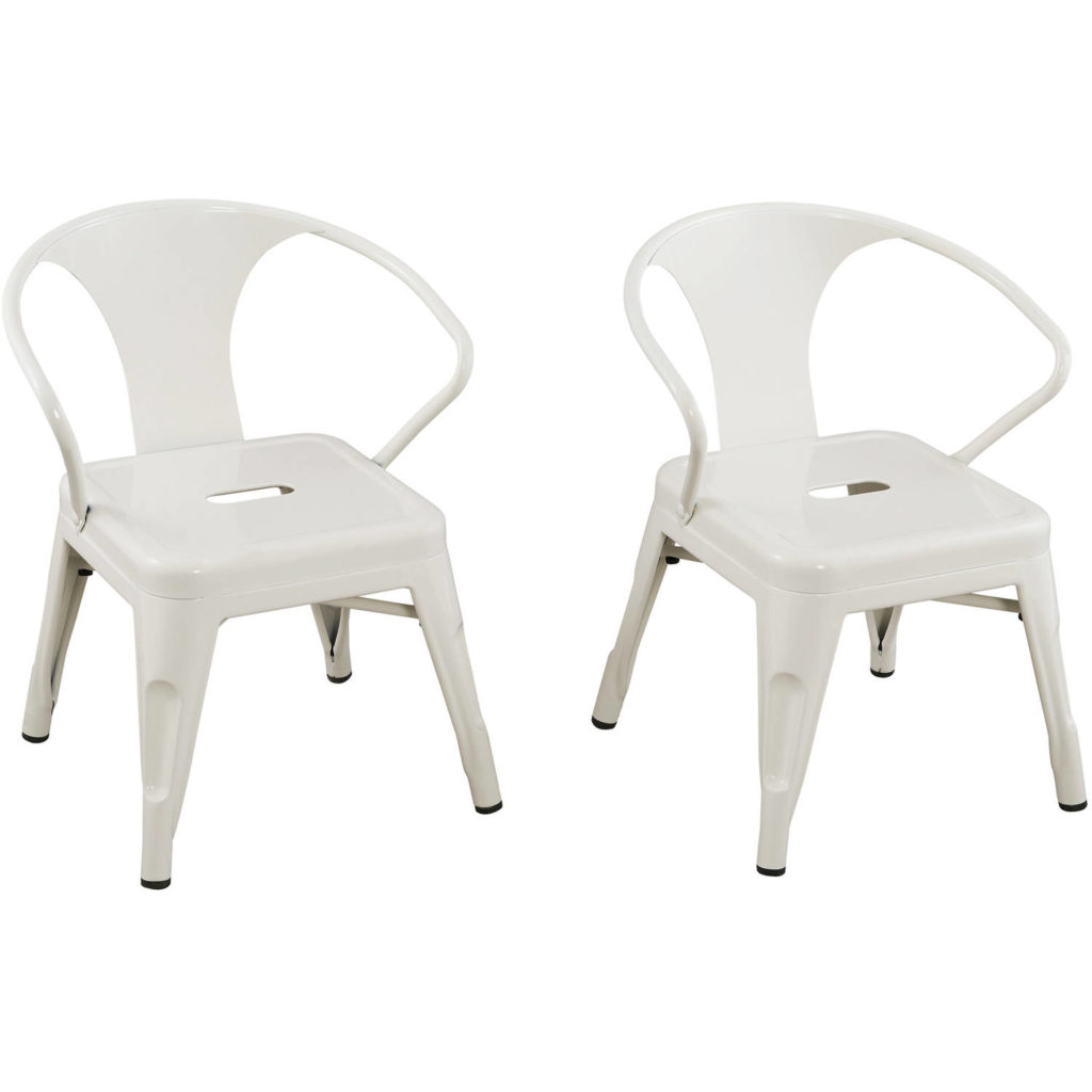 White Metal Kids' Chairs