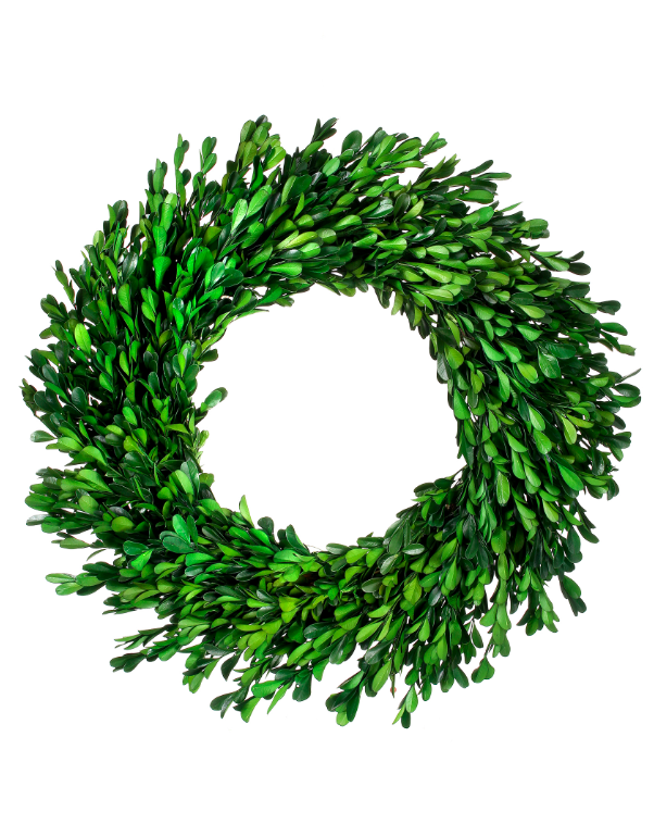 Artificial Preserved Boxwood Christmas Wreath