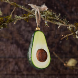 Avocado Glass Ornament