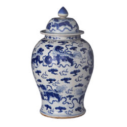Blue and White Chinese Porcelain Ginger Jar
