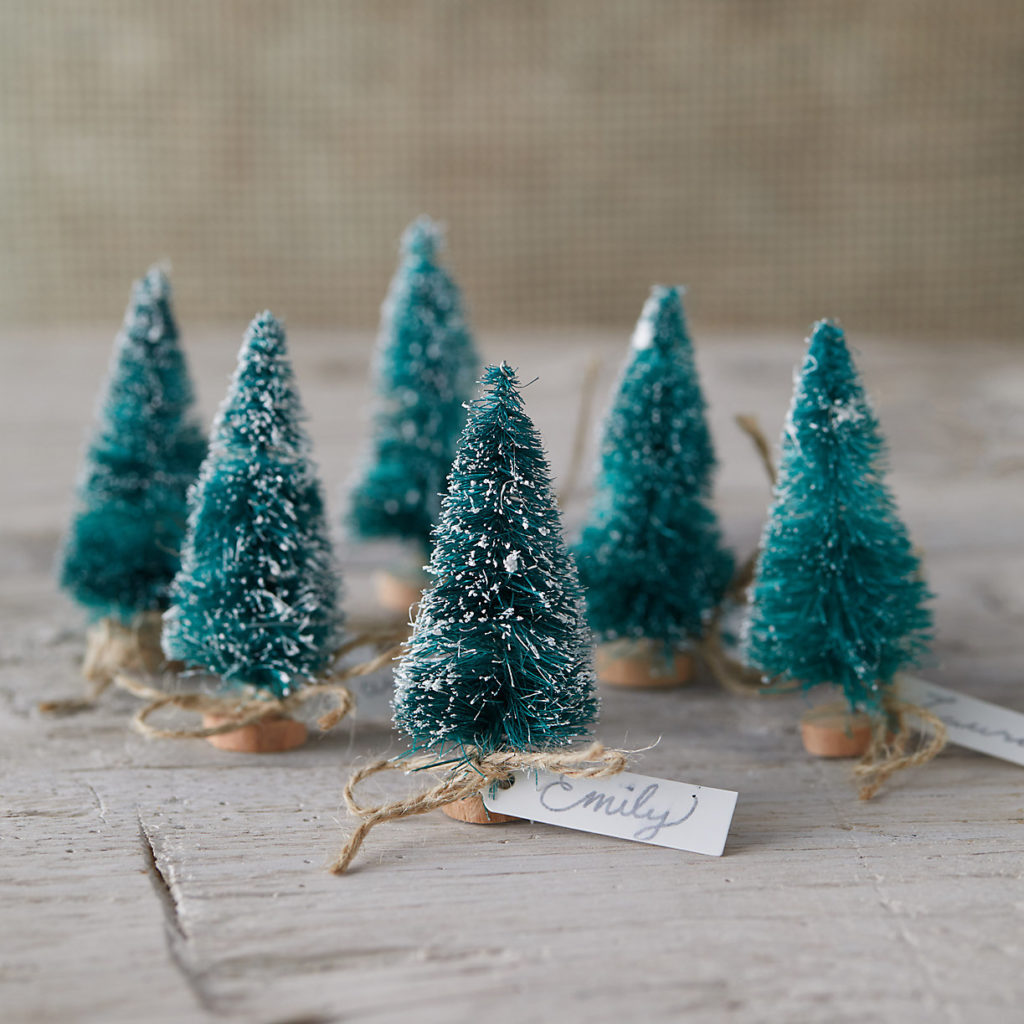Evergreen Tree Place Card Holders