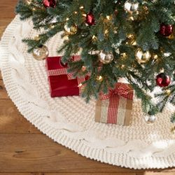 Ivory Chunky Knit Tree Skirts