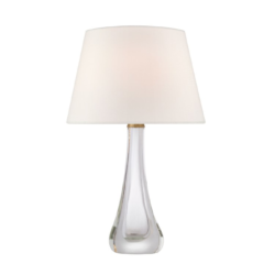 Glass and Crystal Table Lamp