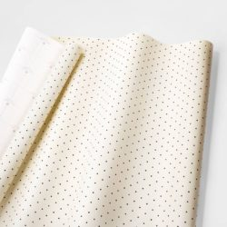 Cream and Black Swiss Dot Gift Wrap
