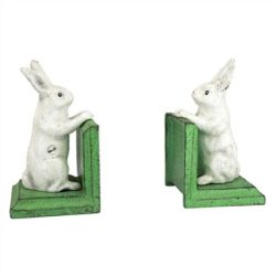 Bunny Cast Iron Bookends