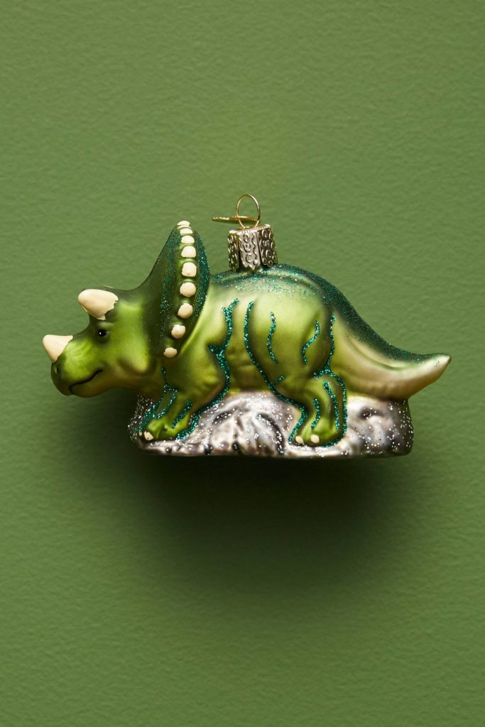 Dinosaur Glass Ornament