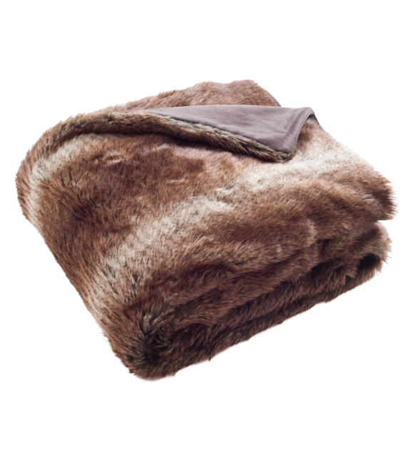 Faux Fur Throw Blanket