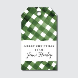Green Gingham Gift Tags