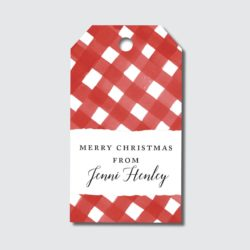 Red Gingham Gift Tags