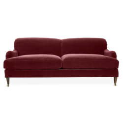 Berry Velvet Sofa
