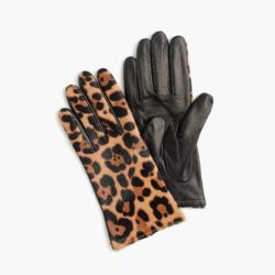 Leopard Print Tech Gloves