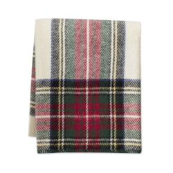 Italian Lambswool Plaid Throw